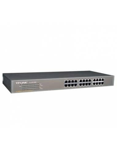 TP-Link TL-SF1024 24-port 10/100M Switch, 24 10/100M RJ45 ports, 1U 19-inch rack-mountable steel case