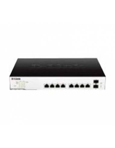 D-link DGS-1100-10MP 10-Port PoE Gigabit EasySmart Switch Max Power - PoE ports 1-8 - PoE power budget 130W - 8-Port 10/100/1000