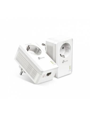 TP-Link TL-PA7017P KIT AV1000 Passthrough Powerline KIT, Broadcom, 1 Gigabit Port, 1000Mbps Powerline, HomePlug AV2, New PLC Uti