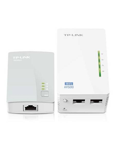 TP-Link TL-WPA4220KIT (TL-WPA4220 KIT) Kit de Extensi&oacute n Powerline Inal&aacute mbrico N a 300Mbps, incluye 1 TL-WPA4220 y